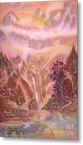 Mountain Mist Metal Print