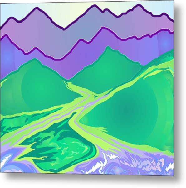 Mountain Murmurs Metal Print