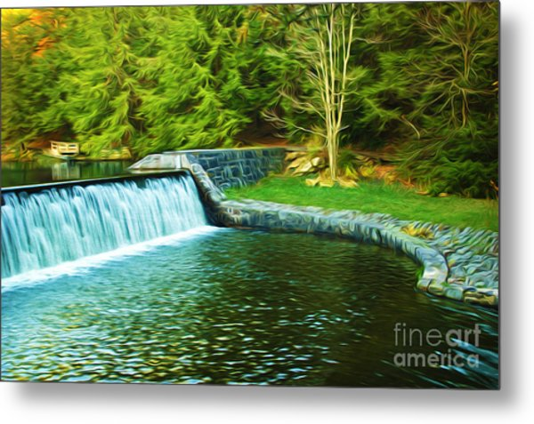 Mountain Park In Autumn Metal Print