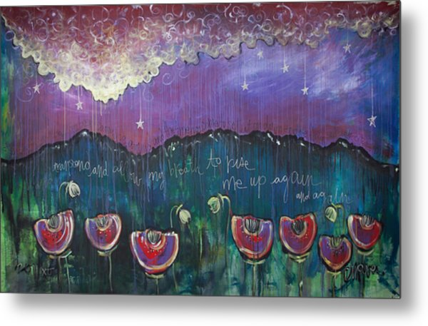 Mountain Poppies Metal Print