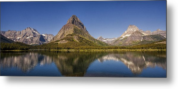 Mountain Reflection Panorama Metal Print
