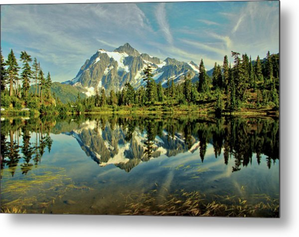 Mountain Reflections Metal Print by Marv Russell