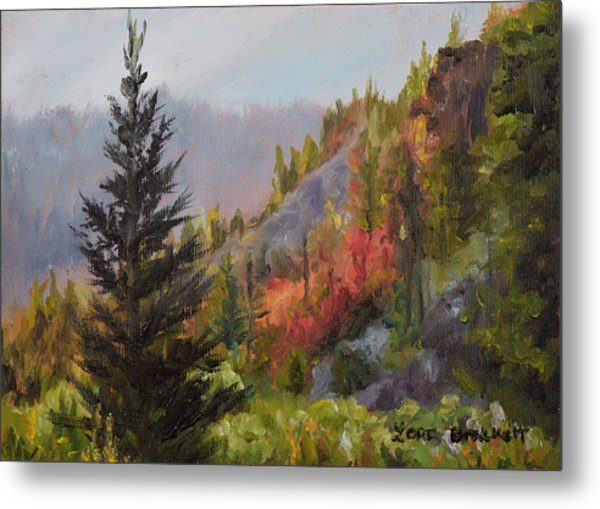 Mountain Slope Fall Metal Print