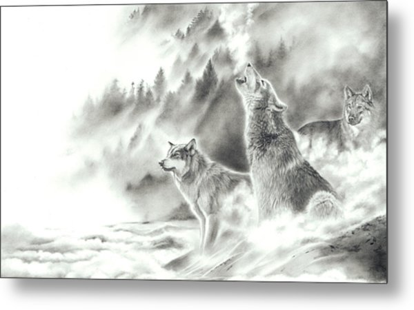 Mountain Spirits Metal Print