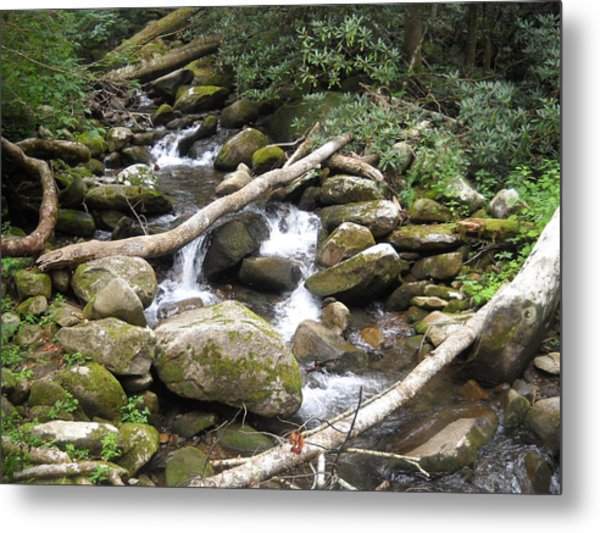 Mountain Stream Metal Print by Christy Verstoep