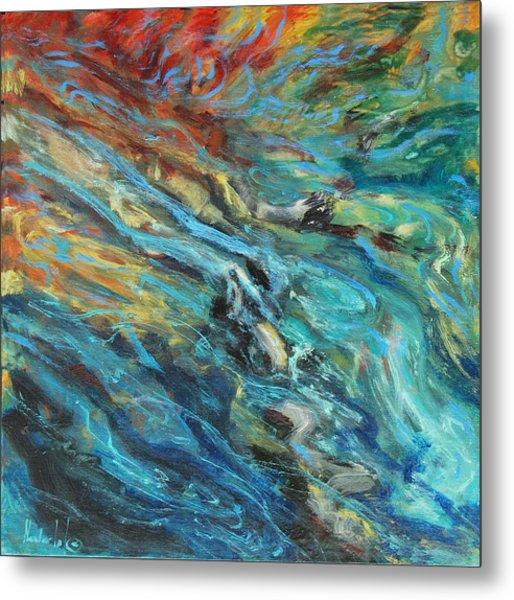 Mountain Stream Metal Print by Rick Nederlof
