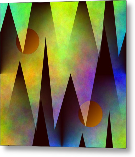 Mountain Sunset Abstract Metal Print