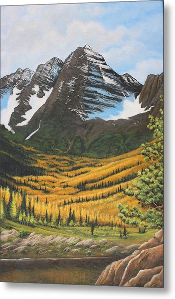 Mountain Valley Metal Print by Diana Miller