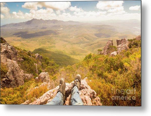 Mountain Valley Landscape Metal Print