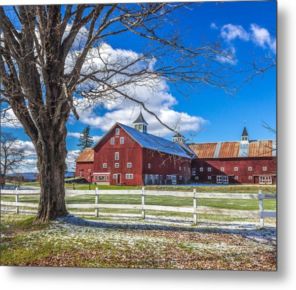 Mountain View Barn Metal Print