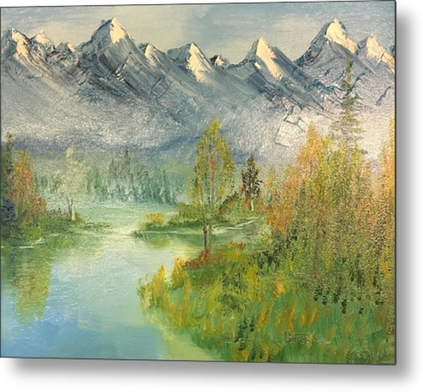Mountain View Glen Metal Print