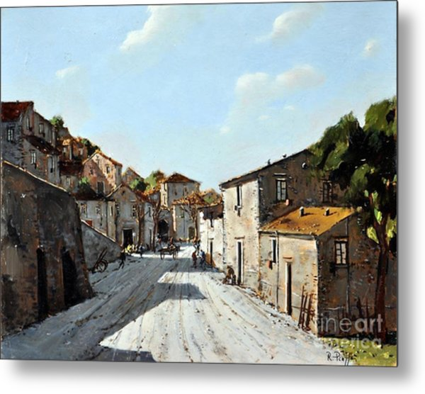 Mountain Village Main Street Metal Print