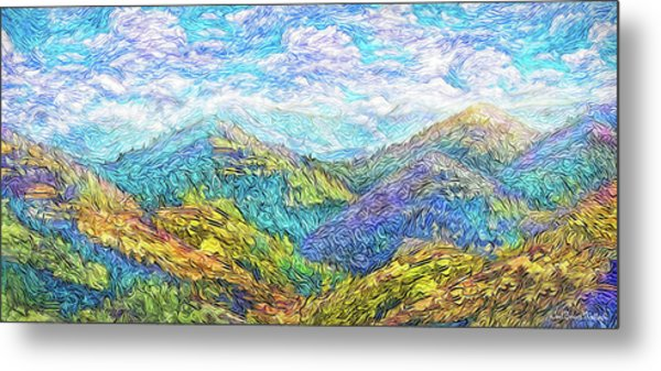 Mountain Waves - Boulder Colorado Vista Metal Print