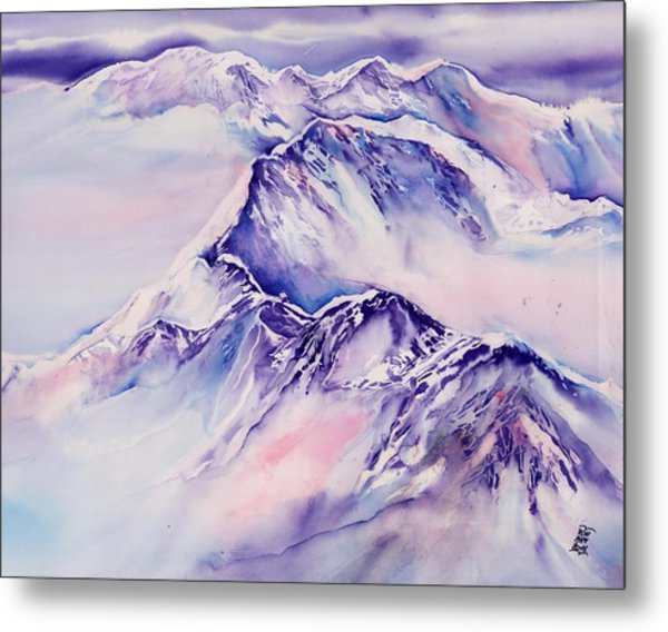 Mountains Above The Clouds No. 2 Metal Print