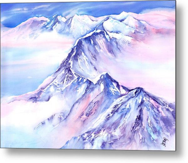 Mountains - Above The Clouds No. 1 Metal Print