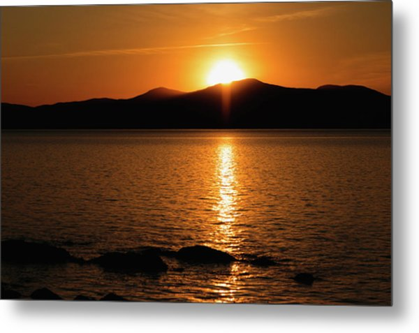 Metal Print featuring the photograph Mountains And River At Sunset by Cristina Stefan