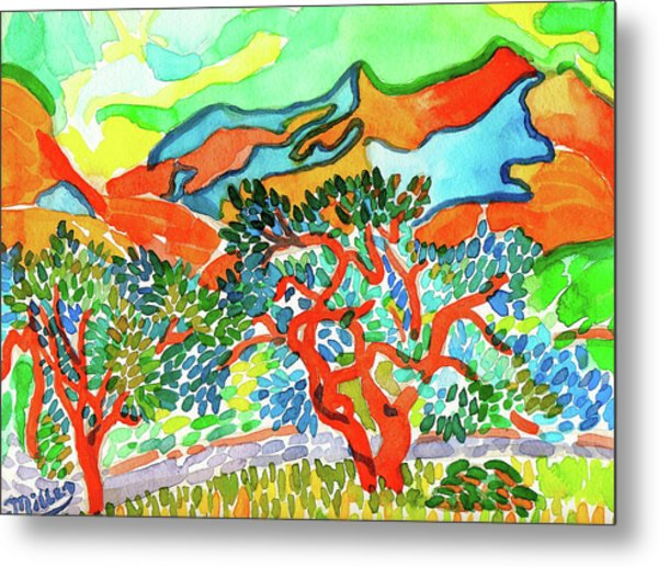 Mountains At Collioure Metal Print