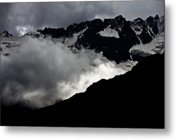 Mountains Clouds 9950 Metal Print