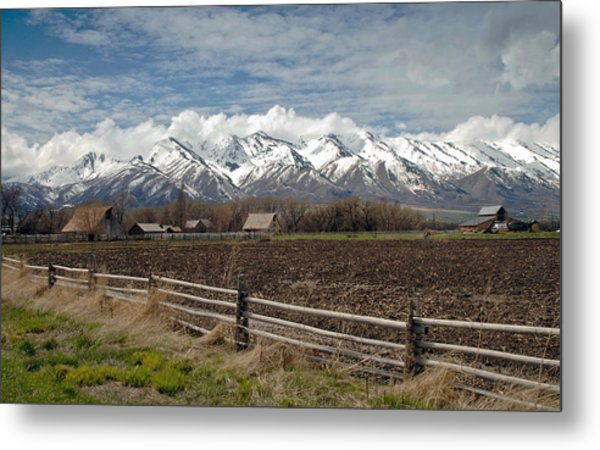 Mountains In Logan Utah Metal Print