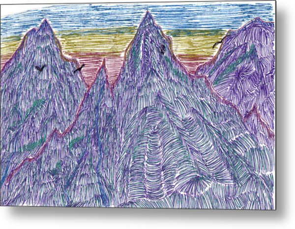 Mountains Metal Print by Lynnette Jones