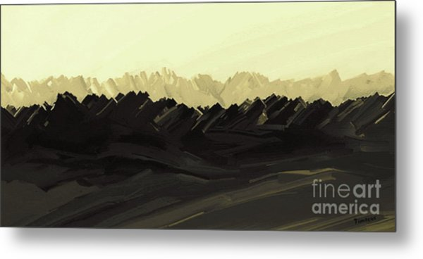 Mountains Of The Mohave Metal Print