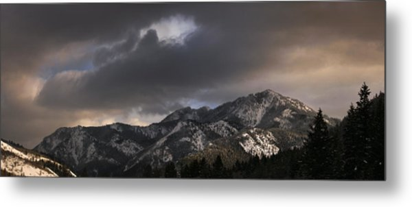 Mountian Light Metal Print