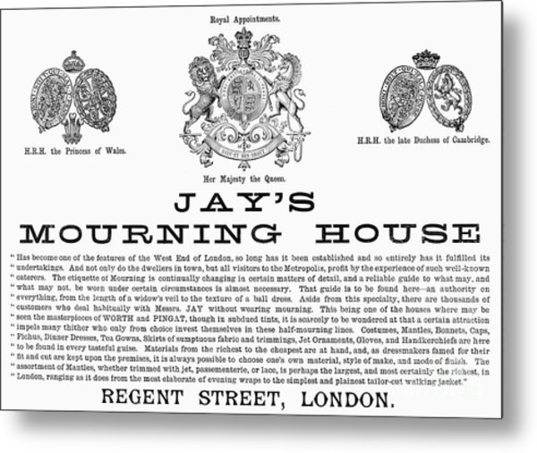 Mourning House, 1891 Metal Print by Granger
