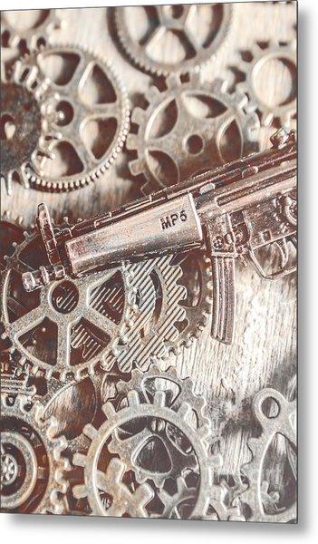 Movement Of Military Arms Metal Print