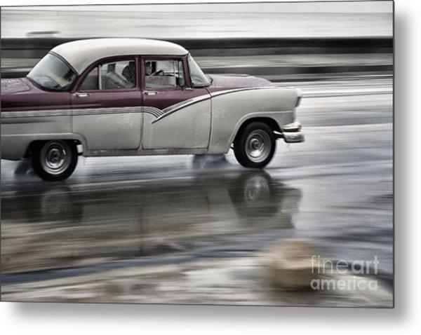 Moving Old Car Metal Print