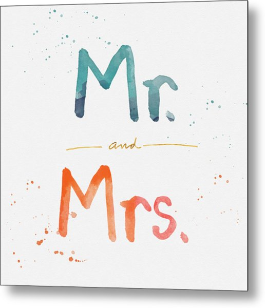 Mr And Mrs Metal Print