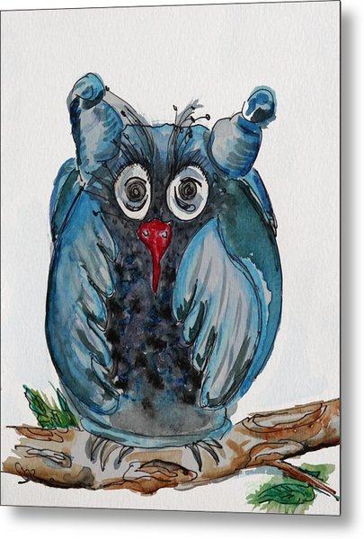 Mr. Blue Owl Metal Print