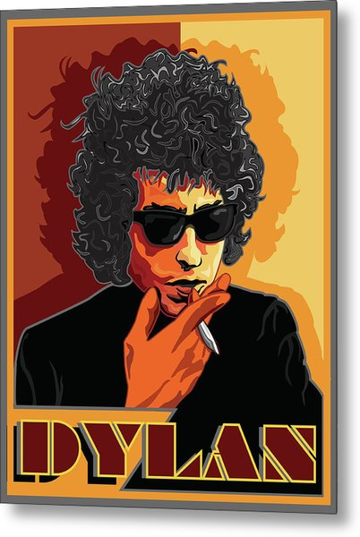 Mr Bob Dylan Metal Print by Larry Butterworth