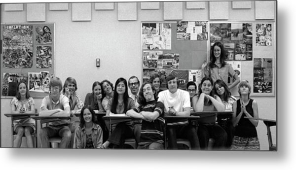 Mr Clay's Ap English Class - Cropped Metal Print