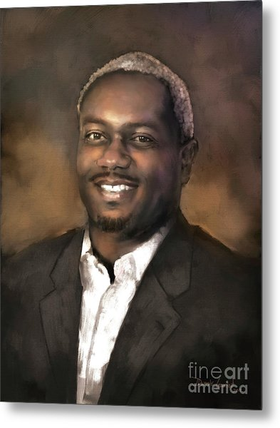 Metal Print featuring the digital art Mr. Dedrick J. Sims by Dwayne Glapion