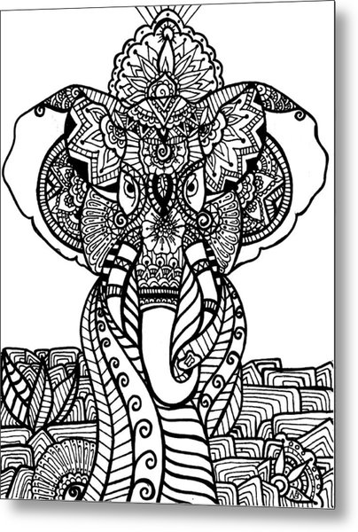 Mr. Elephante Metal Print