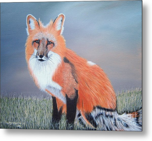 Mr. Fox Metal Print