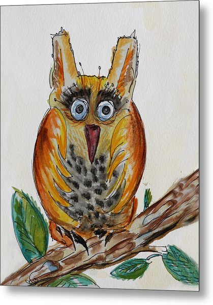 Mr.orange Owl Metal Print