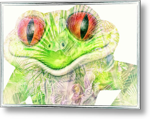 Mr Ribbit Metal Print