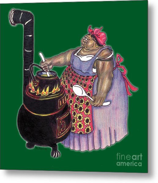 Mrs. Brown Preparing Supper Metal Print