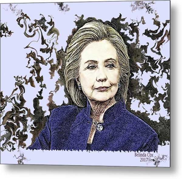 Mrs Hillary Clinton Metal Print