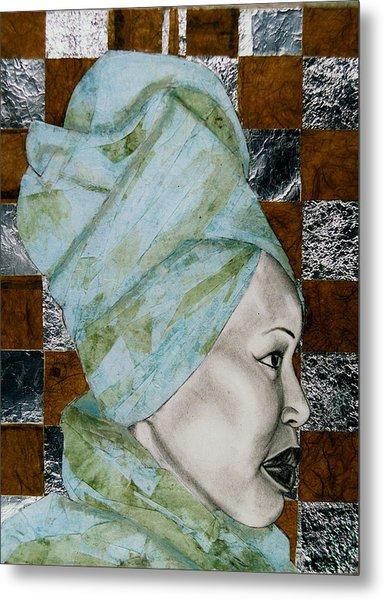 Mrs. Seneferu Metal Print by Malik Seneferu