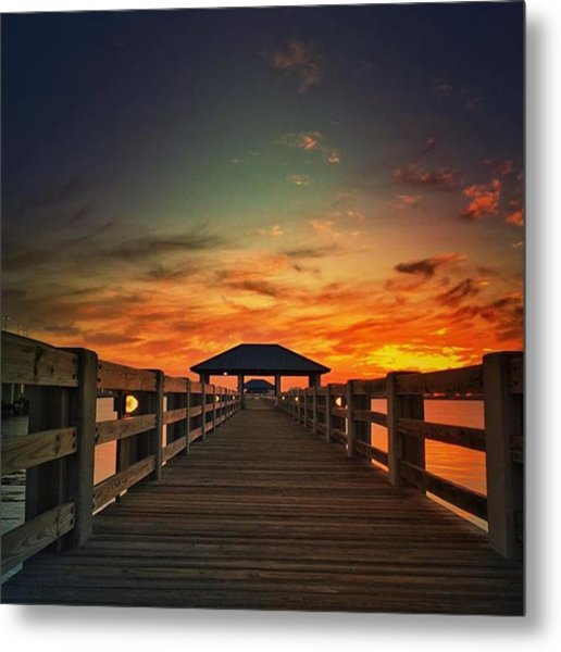 Ms Gulf Coast Sunset💖 #visitms Metal Print