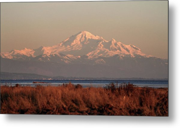 Mt Baker At Sunset Metal Print