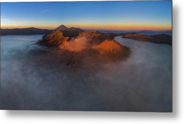 Mt Bromo Sunrise Metal Print