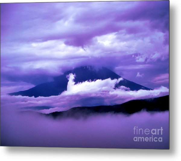 Mt Fuji Metal Print by Yvonne Johnstone