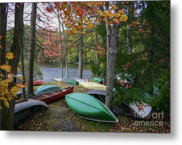 Mt. Gretna Canoes Metal Print