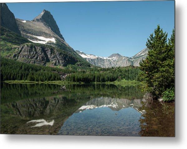 Mt. Grinnell Across Red Rock Lake Glacier National Park Metal Print