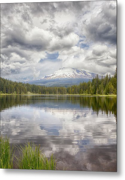Mt Hood From Trilliam Lake Metal Print
