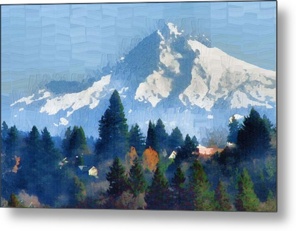 Mt. Hood  Metal Print by Margaret Hood