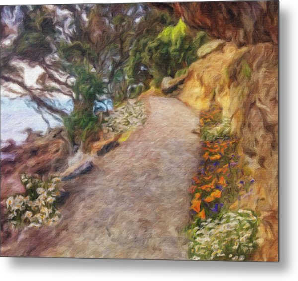Mt. Maunganui Base Walk Metal Print